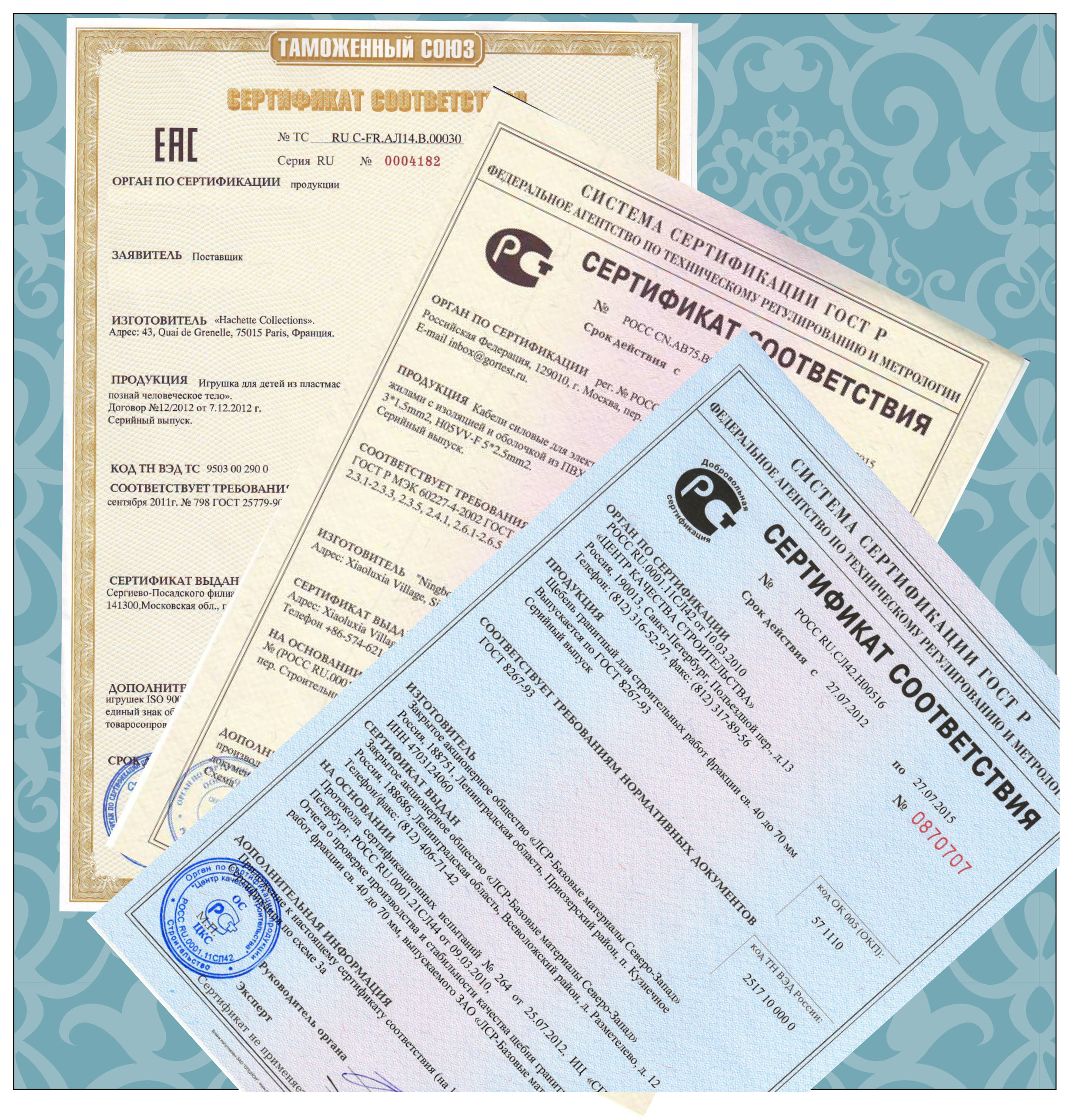 сертификат соответствия ст 1 оформление